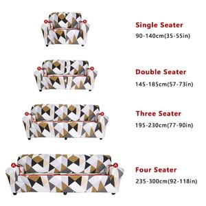 Image 4 - ספה מכסה לסלון 1/2 חתיכות גיאומטרי משובץ חתך ספה כיסוי סט למתוח ספה ריפוד 1/2/3/4 מושבים