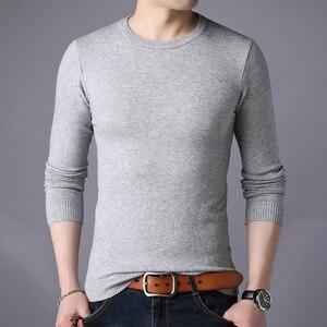 Image 2 - Darmowa wysyłka New Fashion 2020 wiosna jesień wełniane dla mężczyzn swetry człowiek swetry