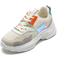 2019 New Stylish Woman Running Shoes Increasing 6CM INS High Heel Sneakers Women Height Platform Breathable Sports Walking Gilrs