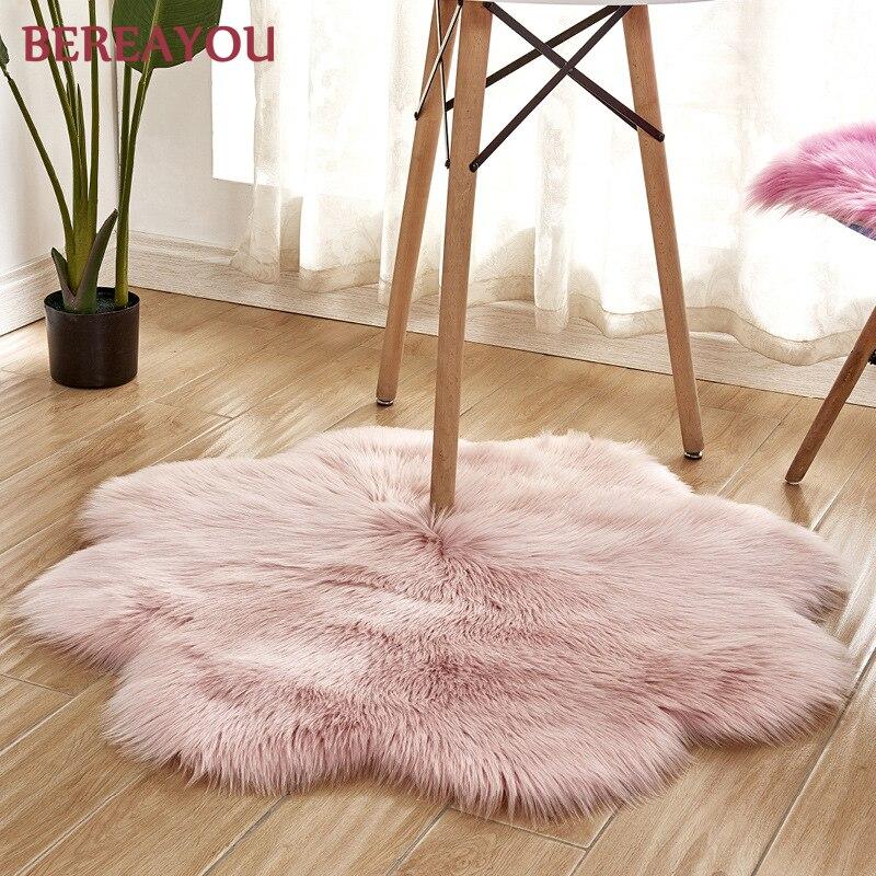 Tapis de fourrure nordique et tapis pour la maison salon chambre tapis chambre enfants chambre chaise couverture moderne tapis rond tapis chambre - 2
