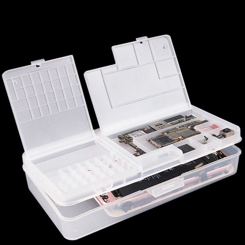 Parts Box Toolbox For Mobile Phone Repair Electronic Component Box Screw Chip Resistor Storage Box Patch Container