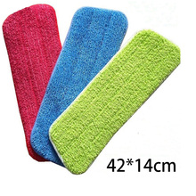 3 In 1 Spray Mop Cloth Reusable Microfiber Pads Household Dust Cleaning Floor Cleaner Tools Colorful Spin Heads 42x14cm