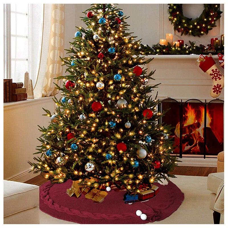 Luxury Christmas Tree Skirt Faux Fur