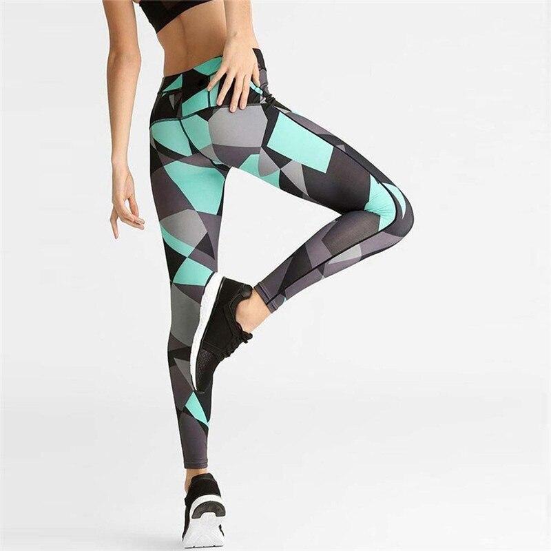 Geometric Patchwork   Leggings   Workout leggins High Elastic Waist Female Fitness   Leggings   Women Sportswear   Leggings