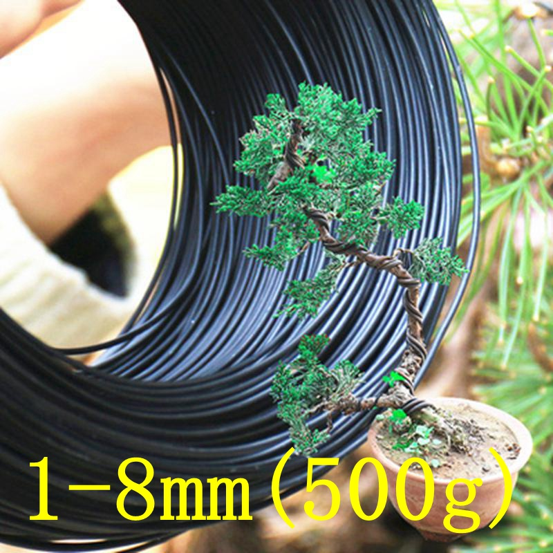 1mm-8mm Metal Aluminum Wire Bonsai Modeling Material Aluminum Wire Gardening Tools Pot Bonsai Shape Aluminum Wire 500G/Roll