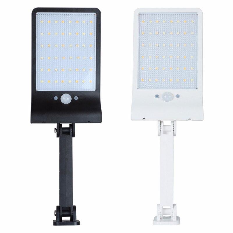 New 50 LED Remote Control Solar Light IP65 Waterproof PIR Motion Sensor Wall Lamps 3 Mode Dimmable Outdoor Garden Street Light