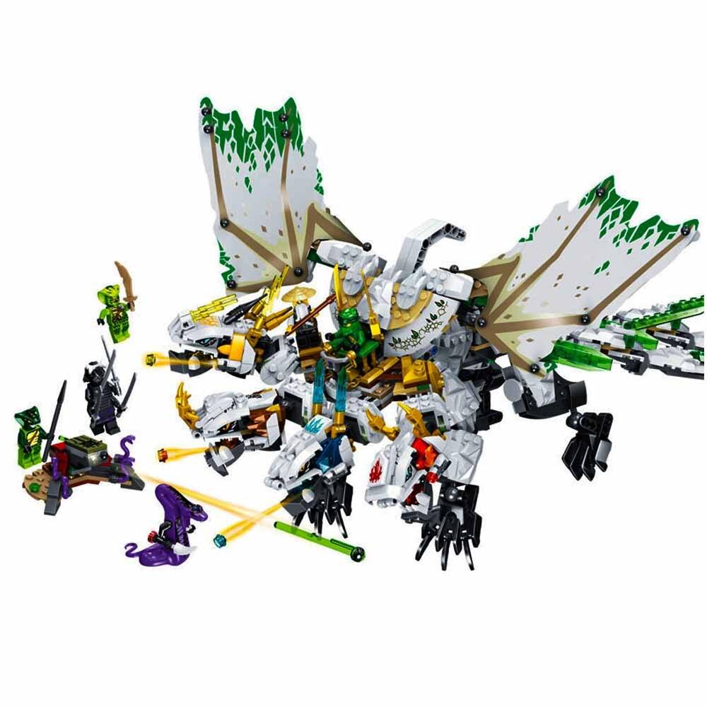 1100pcs Ninja The Ultra Dragon Compatible Legogery Ninjagoes Dragon Building Blocks Bricks Toys For Children Birthday Gift 70679
