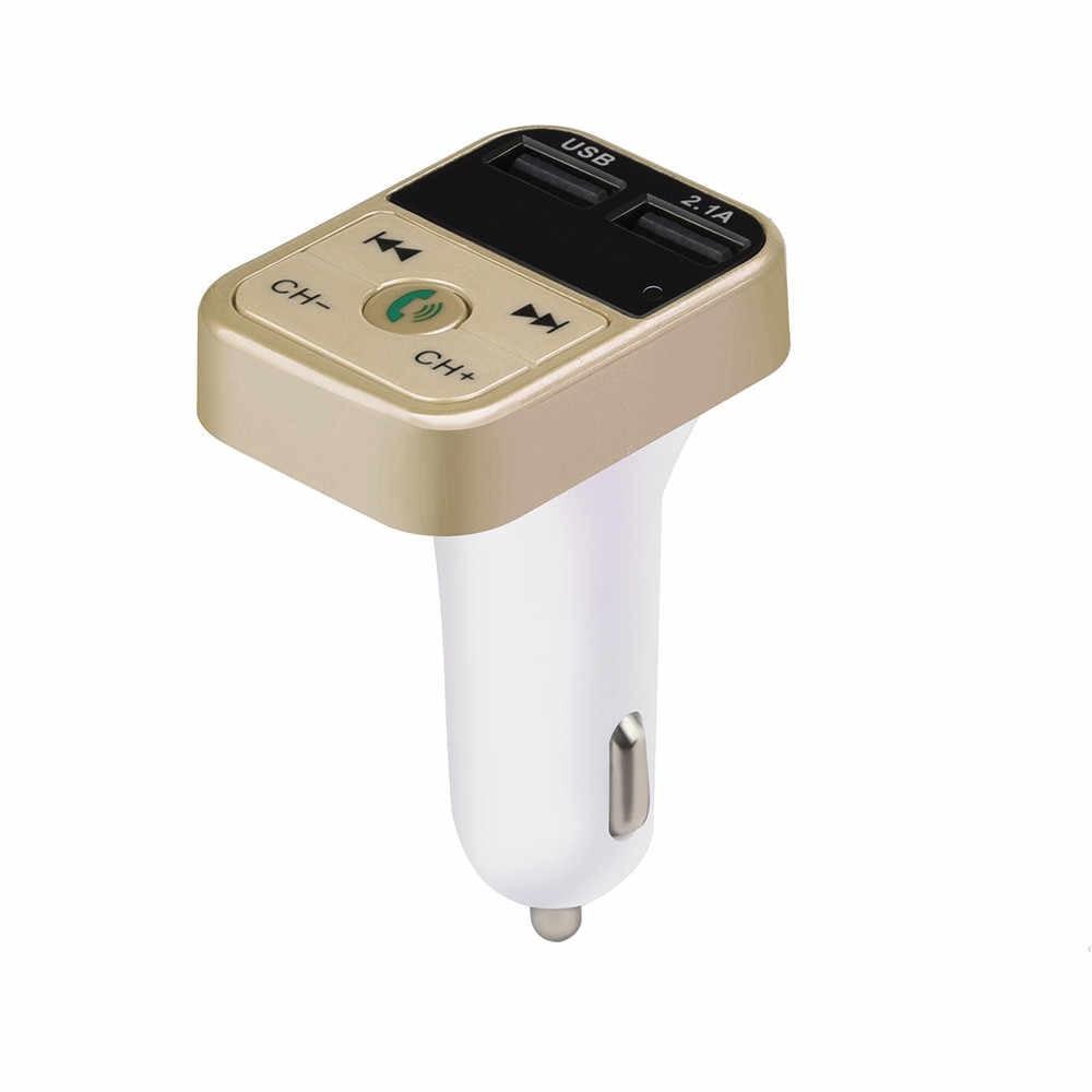 カーキットハンズフリーワイヤレス Bluetooth Fm トランスミッター音楽プレーヤー Led 液晶 Diisplay Mp3 プレーヤーの Usb 充電器 ##0