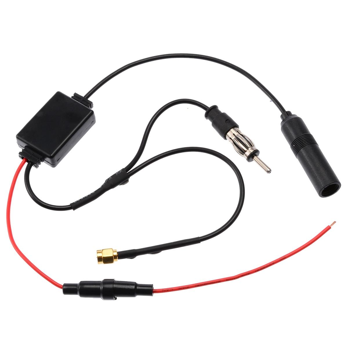 1 Набор универсальный автомобильный FM/AM DAB + АНТЕННА антенный сплиттер адаптер кабель 88-108 МГц диапазон SMB конвертер для автомобильного радио