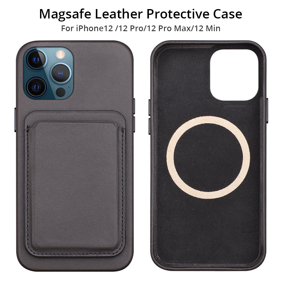 Original Leather Magnetic Wallet Case with Card Holder for iPhone 12 Pro Max