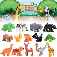 Animal Series Model Figures Big Building Blocks Educational Toys for Kids Compatible legoingly Duploed playmobil Kids Gifts цены