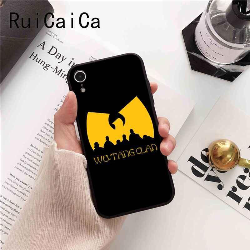 Ruicaica Wu-Tang Wu Tang Clan Ultra บางซิลิโคนสีดำสำหรับ iPhone 8 7 6 6S 6Plus X XS MAX 5 5S SE XR 10 ฝาครอบ