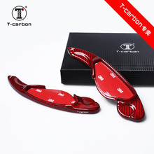 Car styling Real Carbon Fiber Steering Wheel Shift Paddles Extension For Land Rover Discovery Sport RANGE ROVER SPORT Evoque цена