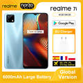 Глобальная версия Realme 7i 7 я 4GB 64GB смартфон MTK Helio G85 6,5 дюймов Экран 48MP AI тройной Камера быстрого заряда 18 Вт 6000 мА-ч