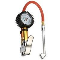 Manômetro de pressão do medidor do pneu do ar do carro de digitas com mangueira da tubulação do pvc para o compressor de ar para carregar o caminhão do carro suv
