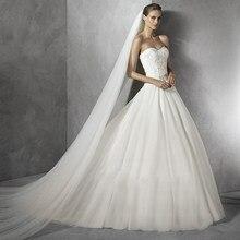 Véu de noiva 2019, véu de noiva elegante, acessório de casamento com 3 metros e 1 camada, branco marfim, simples, véu de noiva com pente venda de venda