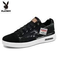 PLAYBOY New Footwear Fashion Men's Casual Shoes Spring & Autumn Male Shoes Men Canvas Shoes Men Flats Zapatillas PL821011
