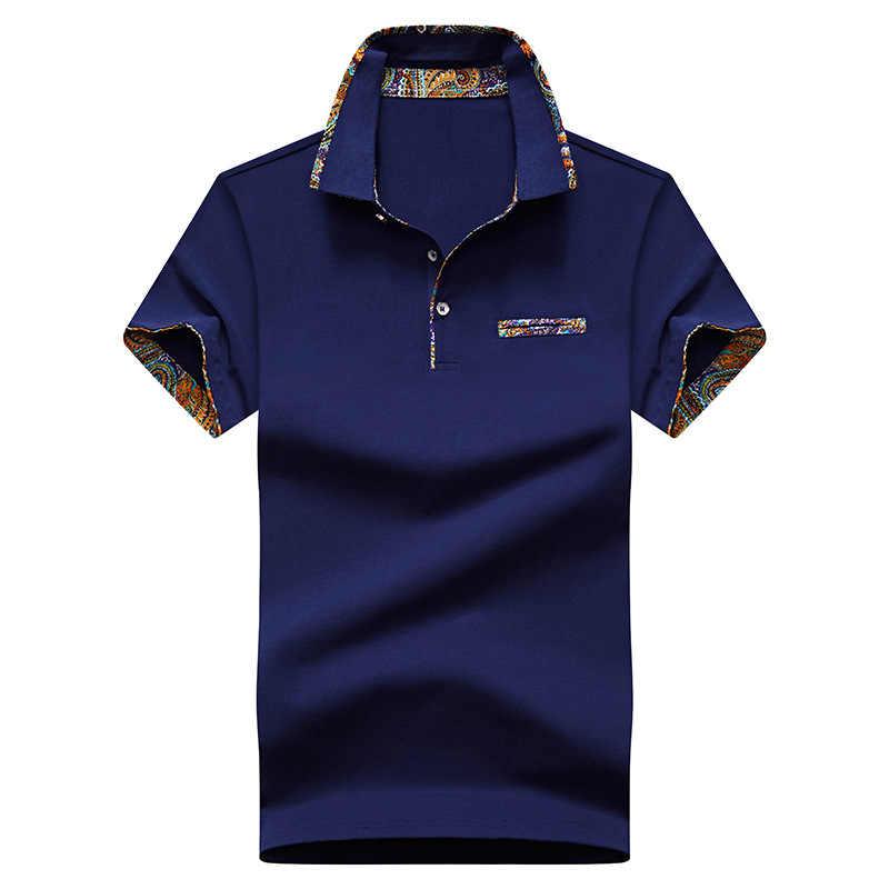 남성 폴로 셔츠 짧은 소매 코 튼 2020 여름 슬림 맞는 패션 멋진 탑 남성 셔츠 칼라 캐주얼 남편 골프 폴로 셔츠