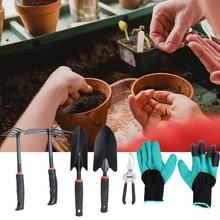 6Pcs Gardening Tools Set Plants Pruning Shears Digging Shovel Rake With Gloves For Home Garden DIY
