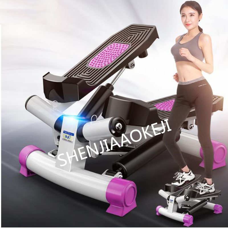 JZ-008 Foot Stepping Motion Machine Household Silent Stovepipe Weight Loss Machine LCD Monitor Fitness Equipment Stepper 1PC