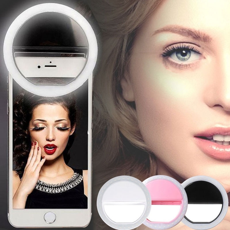 Portable Phone Selfie Lamp Selfie LED Ring Flash Light Luminous Clip Lamp Camera Photography Video Spotlight lens For Smartphone