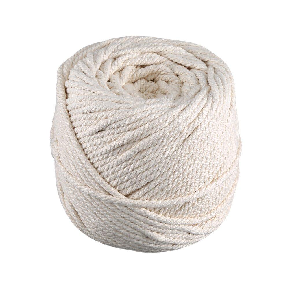 4Mm*100M Cotton Rope Binding Rope Diy Handmade Tapestry Braided Rope Beam Drawstring Natural Strength|Ropes| |  - title=