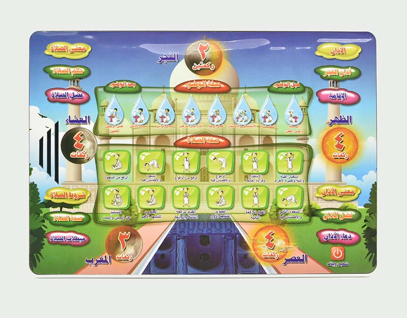 Holy Quran Daily Duaas Arabic Learning Salah Pad Islam Kids Educational Toy