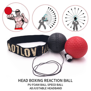 boxing reaction training ball speed ball decompression ball for gym boxing improve speed with reaction training Boxing Reflex Speed Punch Ball MMA Sanda Boxer Raising Reaction Force Hand Eye Training Set Stress Gym Boxing Muay Thai Exercise