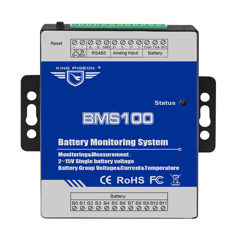 Battery Management System For Battery Current Voltage Temperature Measuring 0-300V DC Supports 4-20mA 0-5V