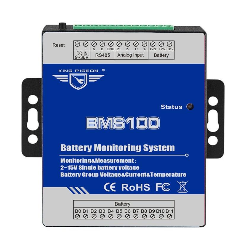 Battery Management System For Battery Current Voltage Temperature Measuring 0-300V DC Supports 4-20mA 0-5V
