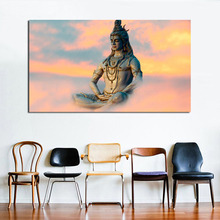 Indian Religious Buddha Shiva Lord Art Canvas Poster Painting Oil Wall Picture Print Home Living Room Decoration Accessories