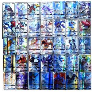 Image 2 - Pokemon francés tarjeta GX TAG non repeat Shining Cards Game Battle Carte Trading juguete para niños