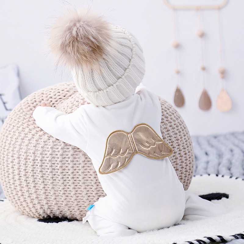 2019winter Newborn Clothes Baby Angel Mink Plush Super Soft Baby's Rompers with Feet Baby Christmas Clothes Christmas Clothes