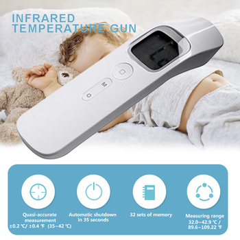 Infrared Forehead Thermometer LCD Digital Thermometer Gun Electronic Baby Adult Temperature Meter Non-contact Measurement