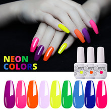 Clou Beaute Nail Gel Polish UV LED Summer Neon Colors Gel Varnishes Painting hybrid lakiery hybrydowe Gellak 15ml Gel Nail(China)