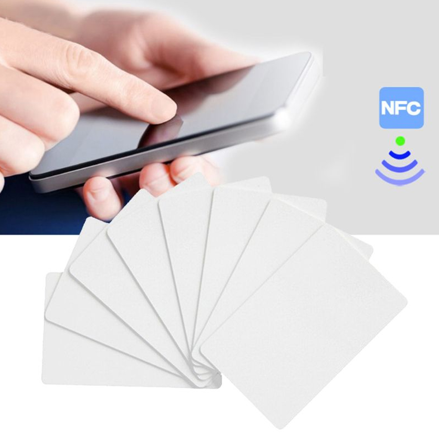 NFC Cards Rewritable Blank PVC Ntag215 NFC Cards for Tagmo Amiibo Games All NFC-Enabled Phone Devices Access Control Card