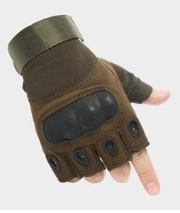 Image 3 - Tactical Gloves Outdoor Sports Moto Ridding Half Finger Military Combat Anti Slip Carbon Fiber Shell Tactical Gloves
