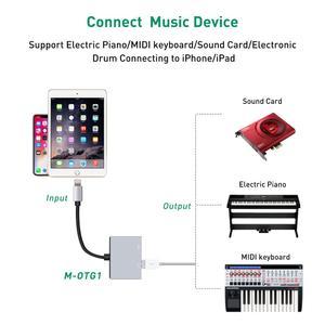 Image 5 - USB OTG adaptör kablosu şarj arayüzü ile dönüştürücü iSO 9 ila 12 iPad Mini hava Pro iPhone X 8 7 6 5 artı erkek kadın
