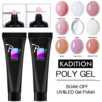 Polygel for Nails Extension Building Acrylic Poly Gel Quick Builder Color Extension Camouflage Base Gel Polish UV LED Nail Art polygel for nails extension building acrylic poly gel quick builder color extension gel nail polish soak off uv led nail art