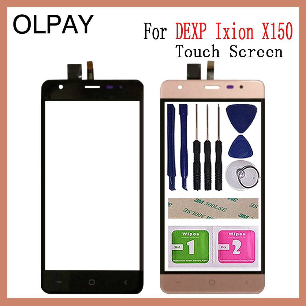OLPAY 5.0'' Mobile Phone Touch Screen Digitizer For DEXP Ixion X150 Touch Glass Sensor Tools Free Adhesive And Wipes