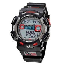 Luxury Brand PASNEW Watches Mens Digital Watches Fashion Sports Watches Men 100M Waterproof Swim Dive Watches horloge mannen cheap Rubber 22 5cm Buckle 10Bar 16mm Acrylic Stop Watch Back Light LED display Auto Date Chronograph Complete Calendar Diver