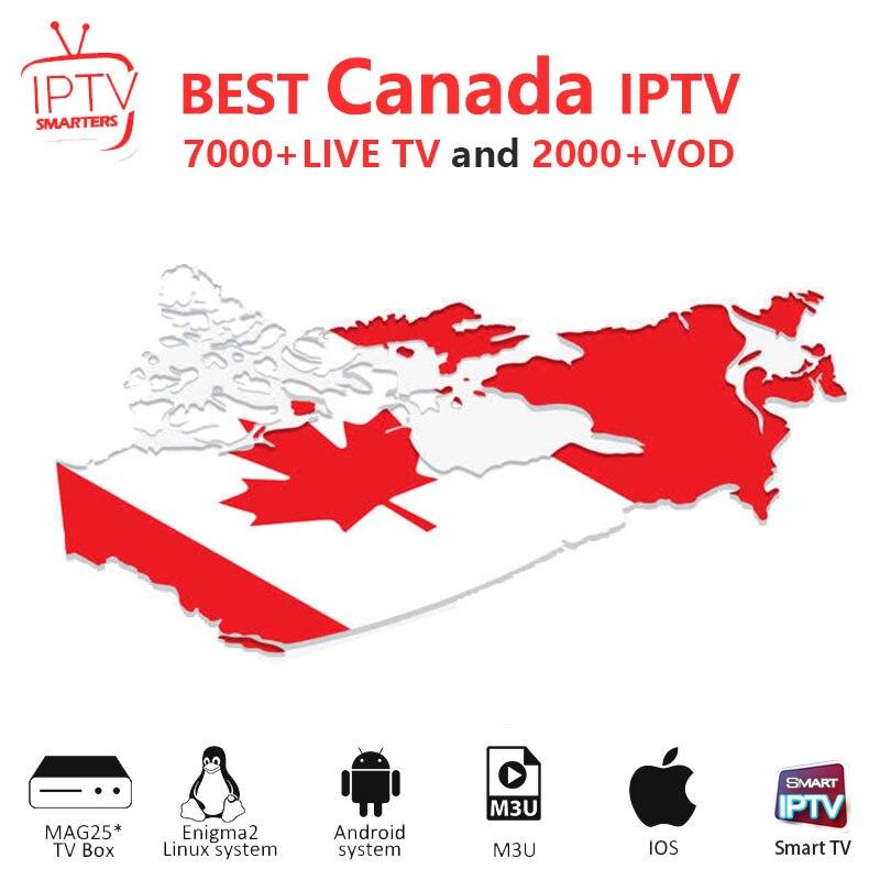 Canada IPTV M3U IPTV 7000+ Live HD Channels For M3u Mag Box Smart Tv  Iptv  M3U Code Sports Adults Free Test Iptv Subscription