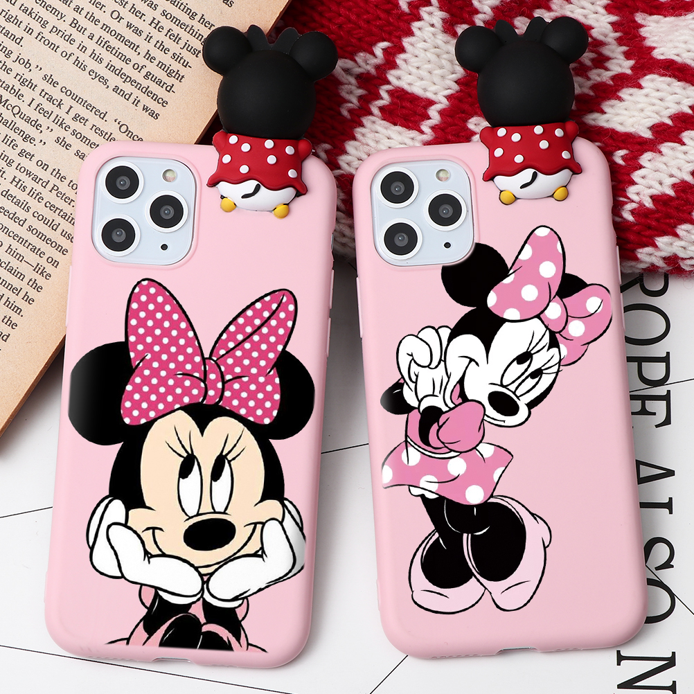 H0bf4fad4ad894fb98144a8e93770f37eH - Cartoon Couple Fashion Case For iPhone XR 11 Pro XS Max X 5 5S Silicone Matte Cover For iphone 7 8 6 S 6S Plus 7Plus Case Girls