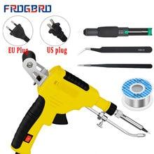 Frogbro 110v/220v 60w conjunto de ferro de solda eua/ue aquecimento interno automaticamente estanho arma ferro de solda kit ferramenta de reparo de soldagem