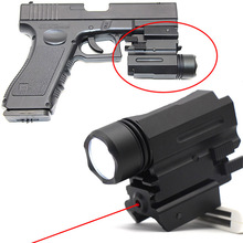 Red Dot Laser Pointer Sight Airsoft Hunting Tactical Flashlight Pistol Sight Scope Optics for Glock 17 19 and 20mm Rail hand gun