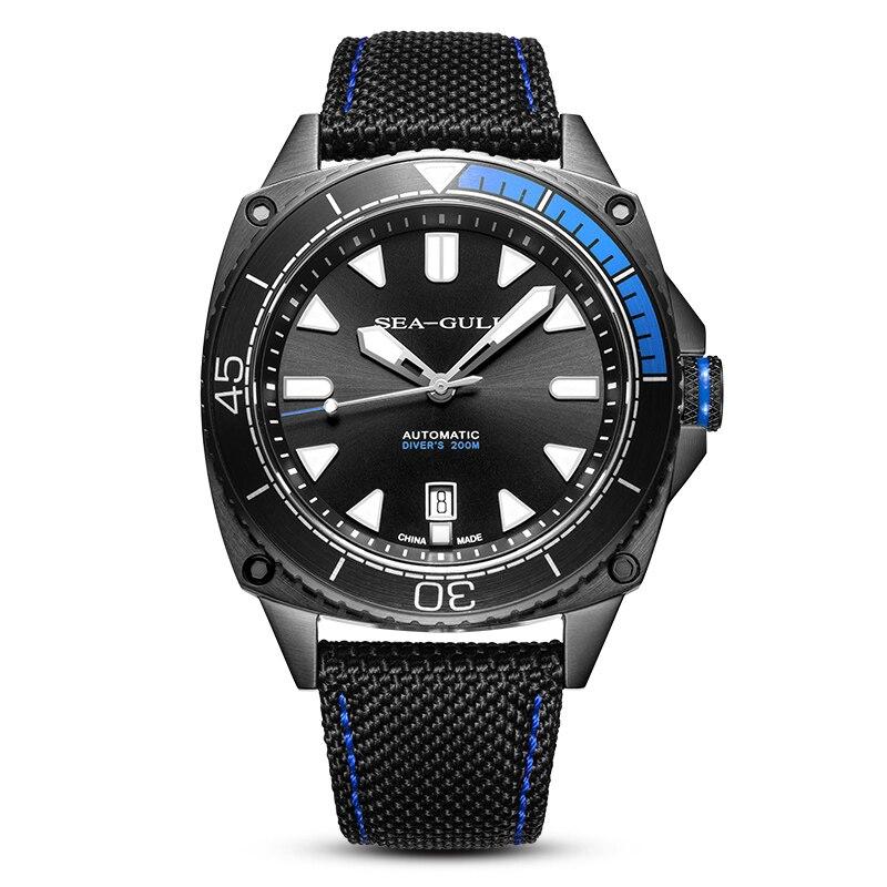 Genuine Seagull 831.22.6057H Ocean Star Self-wind Automatic Mechanical 20Bar Men's Diving Swimming Sport Watch