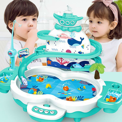 Fashion Educational Child Model Play Fishing Games Outdoor Toys Gifts Kids Fishing Toys Electric Water Cycle With Music Lighting