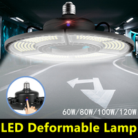 WENNI LED مصباح المرآب E27 60 واط 80 واط 100 واط 120 واط لمبة UFO مصباح 110 فولت E26 تشوه LED لمبة 220 فولت عالية التجويف ضوء لمبة للمصنع أنابيب ومصابيح LED مصابيح وإضاءات -