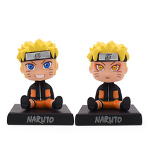 цена на 2 Styles Anime Naruto Figure Shaking His Head PVC Action Toys Figure Model Dolls Collection  Full Set Hot Sale