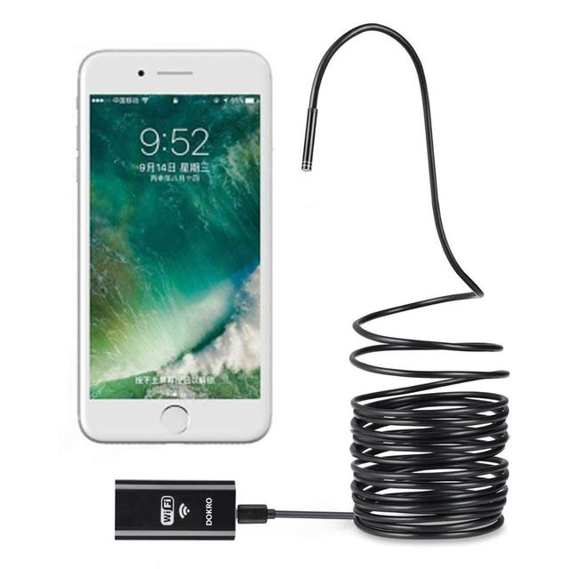 Wireless Endoscope 2.0 Megapixels HD 8.0 mm WiFi Borescope  Waterproof Inspection Snake Camera   With Own WiFi Box 8 LED Lights